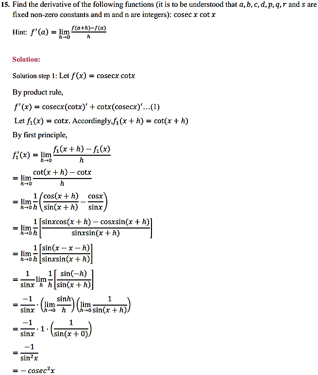 NCERT Solutions for Class 11 Maths Chapter 13 Limits and Derivatives Miscellaneous Exercise 21