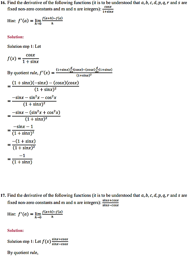 NCERT Solutions for Class 11 Maths Chapter 13 Limits and Derivatives Miscellaneous Exercise 23