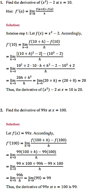 NCERT Solutions for Class 11 Maths Chapter 13 Limits and Derivatives Ex 13.2 1