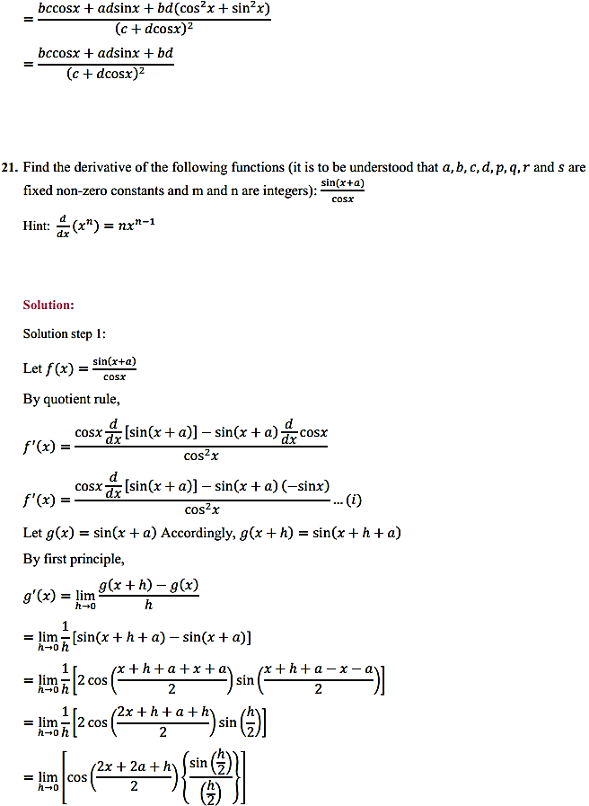 NCERT Solutions for Class 11 Maths Chapter 13 Limits and Derivatives Miscellaneous Exercise 28
