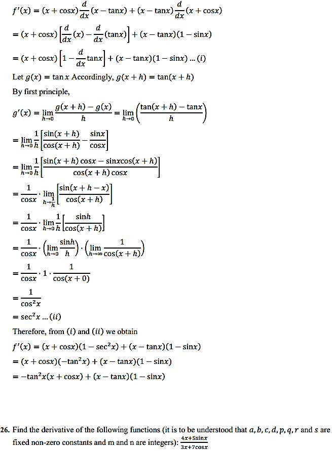 NCERT Solutions for Class 11 Maths Chapter 13 Limits and Derivatives Miscellaneous Exercise 31
