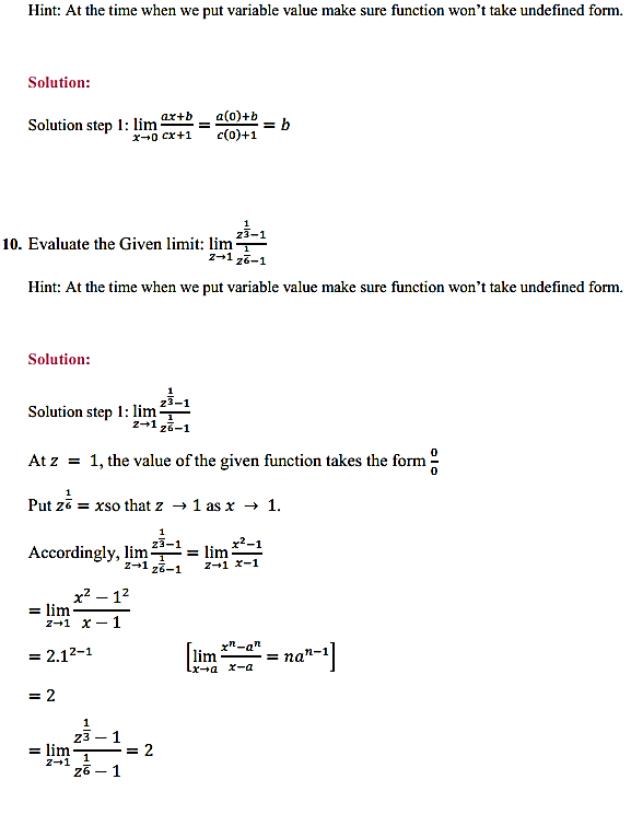 NCERT Solutions for Class 11 Maths Chapter 13 Limits and Derivatives Ex 13.1 6