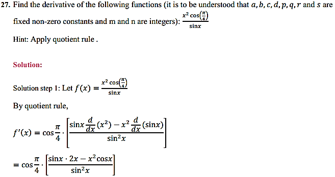 NCERT Solutions for Class 11 Maths Chapter 13 Limits and Derivatives Miscellaneous Exercise 33