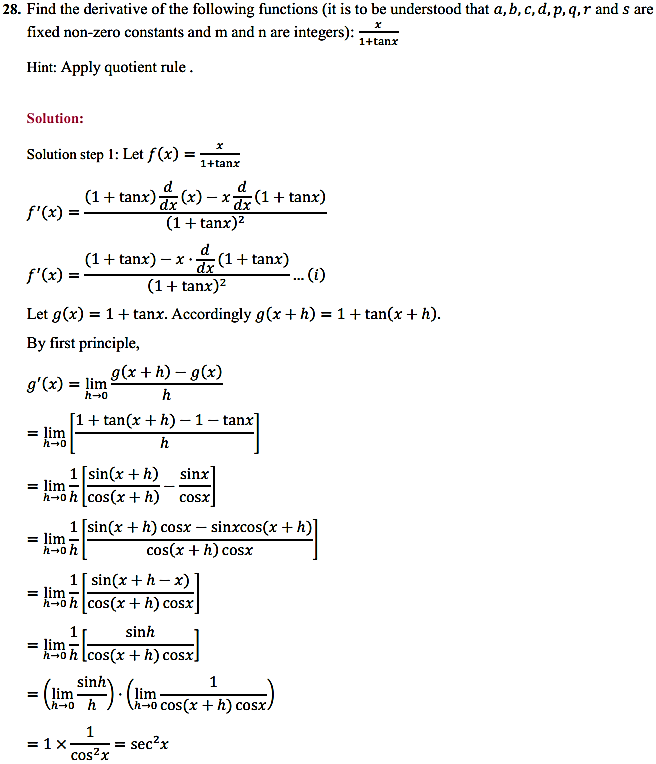NCERT Solutions for Class 11 Maths Chapter 13 Limits and Derivatives Miscellaneous Exercise 35