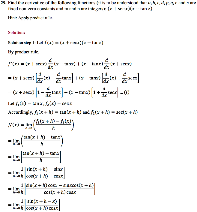 NCERT Solutions for Class 11 Maths Chapter 13 Limits and Derivatives Miscellaneous Exercise 37