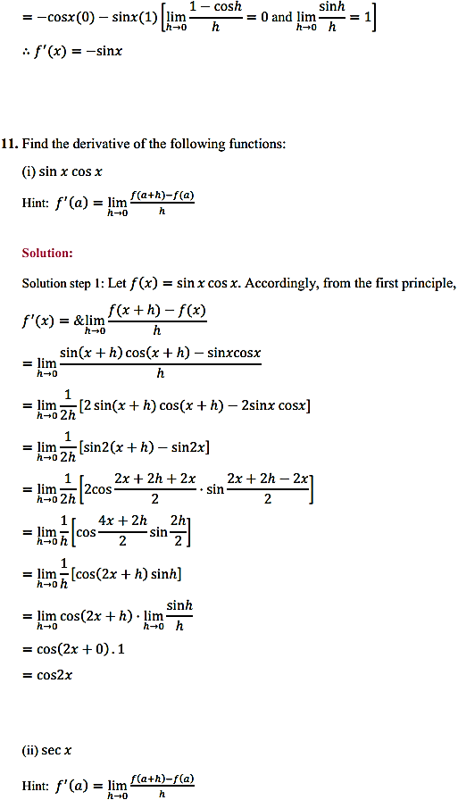 NCERT Solutions for Class 11 Maths Chapter 13 Limits and Derivatives Ex 13.2 18