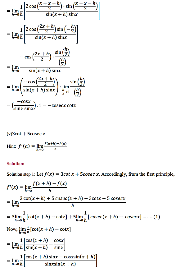 NCERT Solutions for Class 11 Maths Chapter 13 Limits and Derivatives Ex 13.2 22