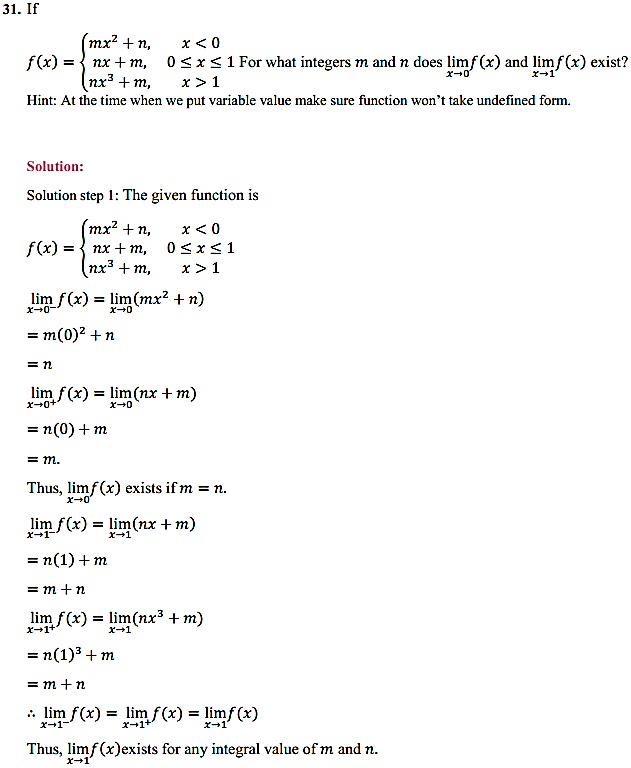 NCERT Solutions for Class 11 Maths Chapter 13 Limits and Derivatives Ex 13.1 30