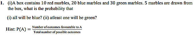 NCERT Solutions for Class 11 Maths Chapter 16 Probability Miscellaneous Exercise 1