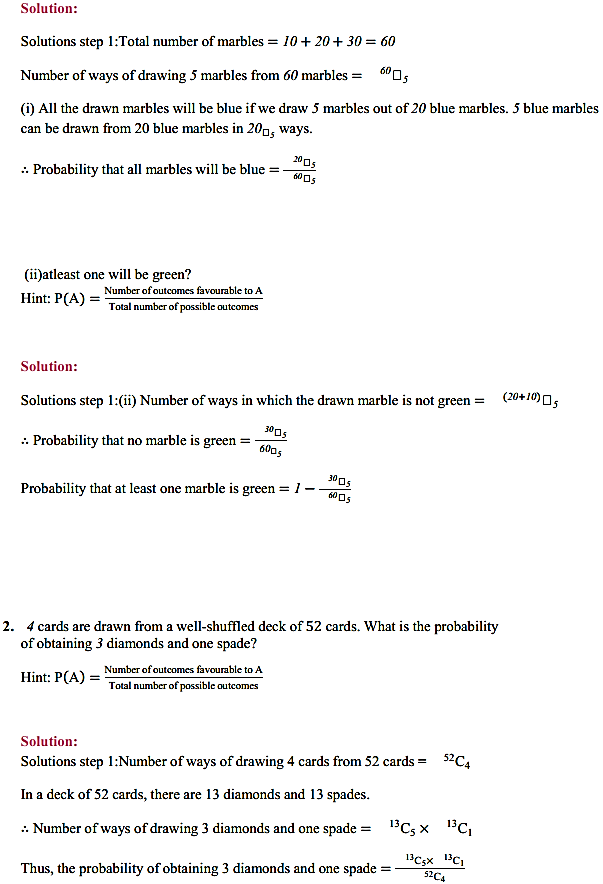 NCERT Solutions for Class 11 Maths Chapter 16 Probability Miscellaneous Exercise 2