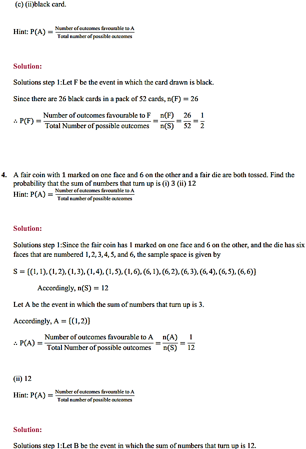 NCERT Solutions for Class 11 Maths Chapter 16 Probability Ex 16.3 9
