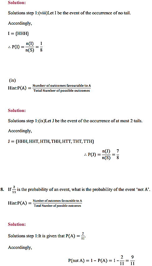 NCERT Solutions for Class 11 Maths Chapter 16 Probability Ex 16.3 16