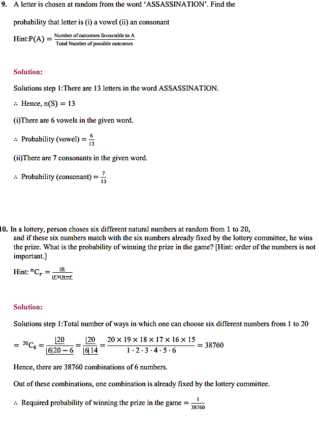NCERT Solutions for Class 11 Maths Chapter 16 Probability Ex 16.3 17