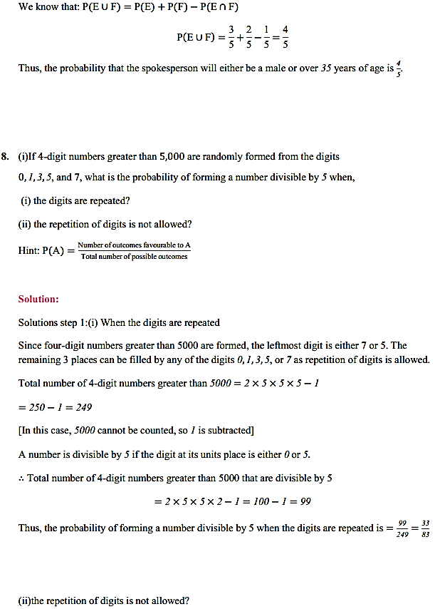 NCERT Solutions for Class 11 Maths Chapter 16 Probability Miscellaneous Exercise 12