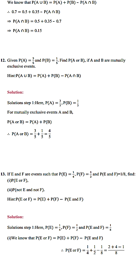 NCERT Solutions for Class 11 Maths Chapter 16 Probability Ex 16.3 22