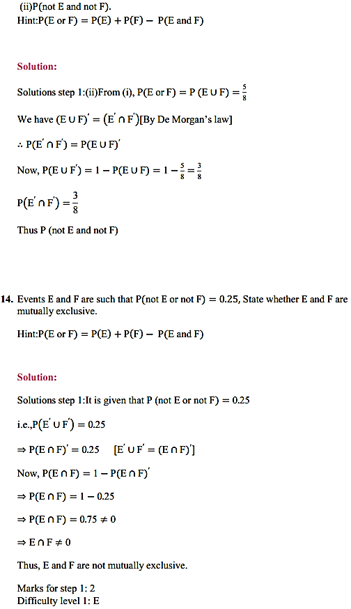NCERT Solutions for Class 11 Maths Chapter 16 Probability Ex 16.3 23