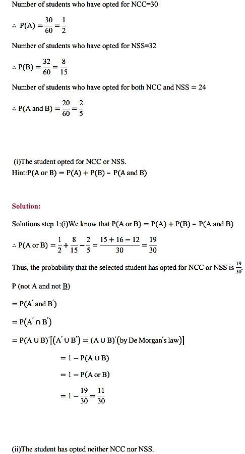 NCERT Solutions for Class 11 Maths Chapter 16 Probability Ex 16.3 29