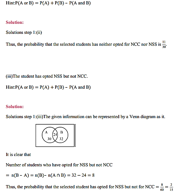 NCERT Solutions for Class 11 Maths Chapter 16 Probability Ex 16.3 30