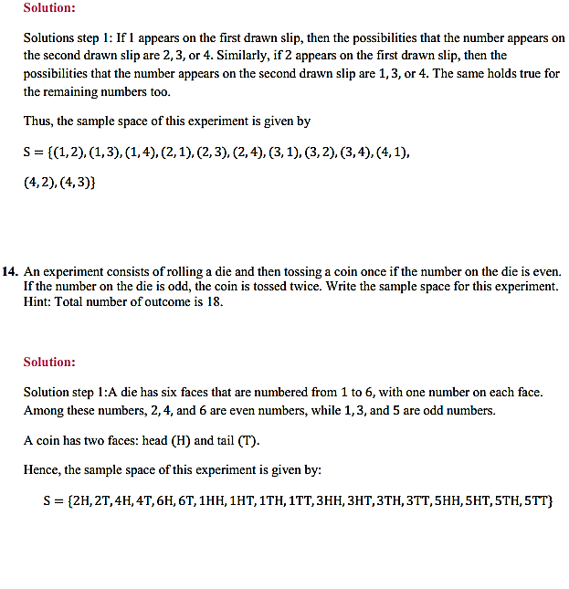 NCERT Solutions for Class 11 Maths Chapter 16 Probability Ex 16.1 6