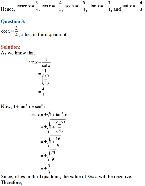 NCERT Solutions for Class 11 Maths Chapter 3 Trigonometric Functions Ex 3.2 5
