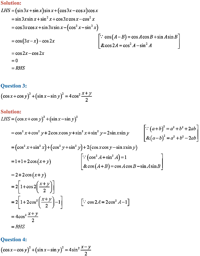 NCERT Solutions for Class 11 Maths Chapter 3 Trigonometric Functions Miscellaneous Exercise 2