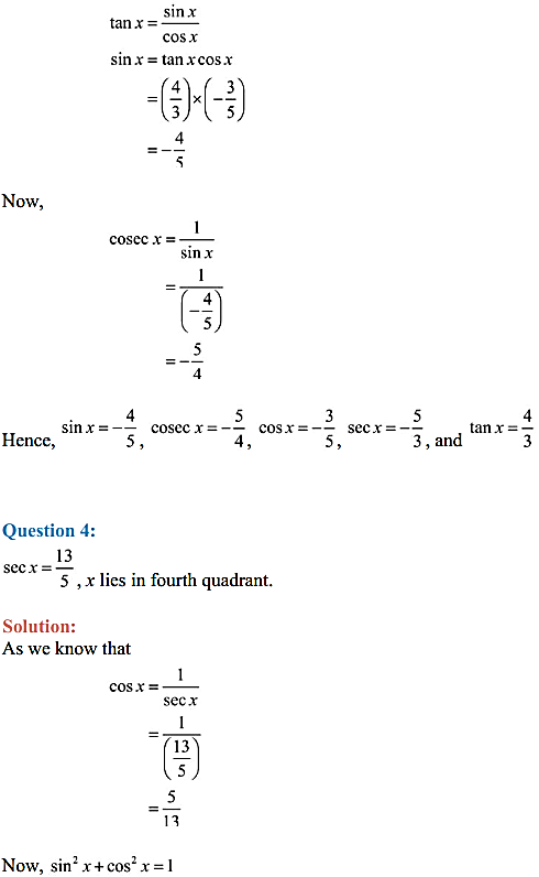 NCERT Solutions for Class 11 Maths Chapter 3 Trigonometric Functions Ex 3.2 7