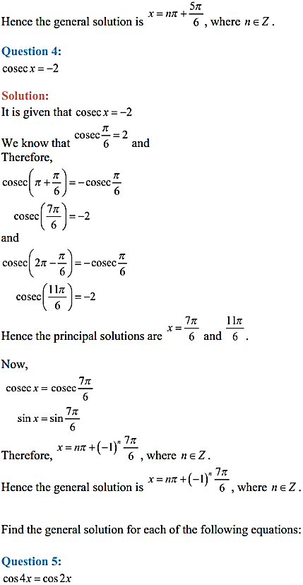 NCERT Solutions for Class 11 Maths Chapter 3 Trigonometric Functions Ex 3.4 4