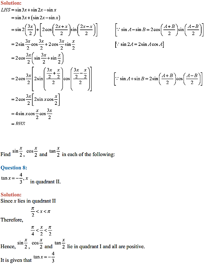 NCERT Solutions for Class 11 Maths Chapter 3 Trigonometric Functions Miscellaneous Exercise 5