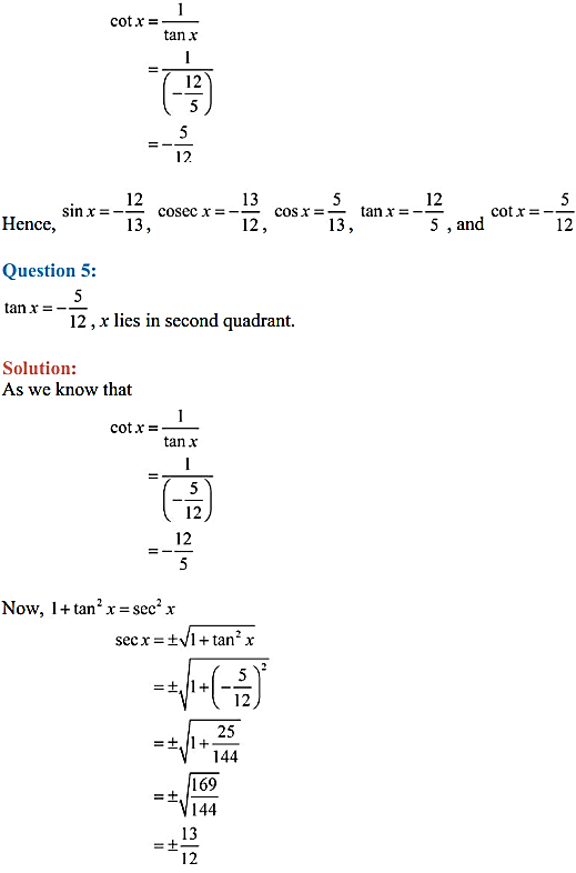 NCERT Solutions for Class 11 Maths Chapter 3 Trigonometric Functions Ex 3.2 10