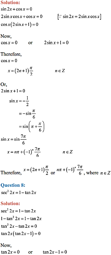 NCERT Solutions for Class 11 Maths Chapter 3 Trigonometric Functions Ex 3.4 7