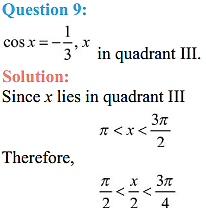 NCERT Solutions for Class 11 Maths Chapter 3 Trigonometric Functions Miscellaneous Exercise 8