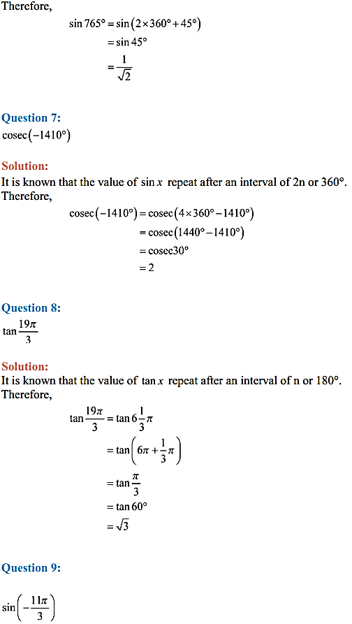 NCERT Solutions for Class 11 Maths Chapter 3 Trigonometric Functions Ex 3.2 13