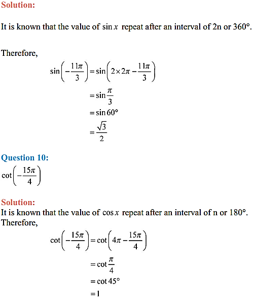 NCERT Solutions for Class 11 Maths Chapter 3 Trigonometric Functions Ex 3.2 14