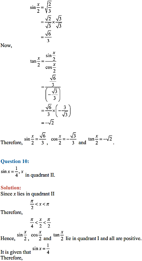 NCERT Solutions for Class 11 Maths Chapter 3 Trigonometric Functions Miscellaneous Exercise 10