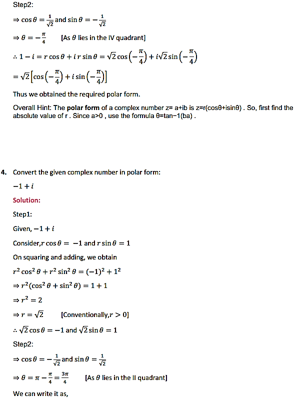 NCERT Solutions for Class 11 Maths Chapter 5 Complex Numbers and Quadratic Equations Ex 5.2 4