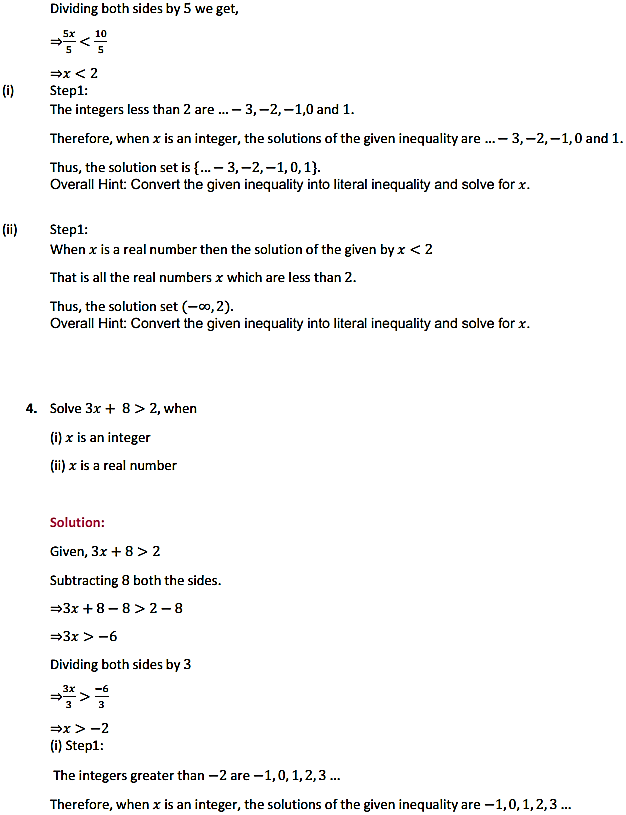 NCERT Solutions for Class 11 Maths Chapter 6 Linear Inequalities Ex 6.1 3