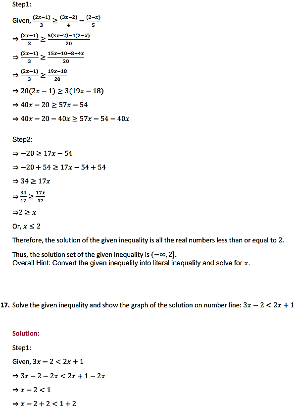 NCERT Solutions for Class 11 Maths Chapter 6 Linear Inequalities Ex 6.1 12