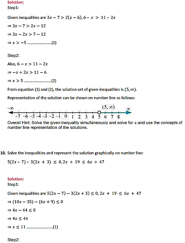 NCERT Solutions for Class 11 Maths Chapter 6 Linear Inequalities Miscellaneous Exercise 6