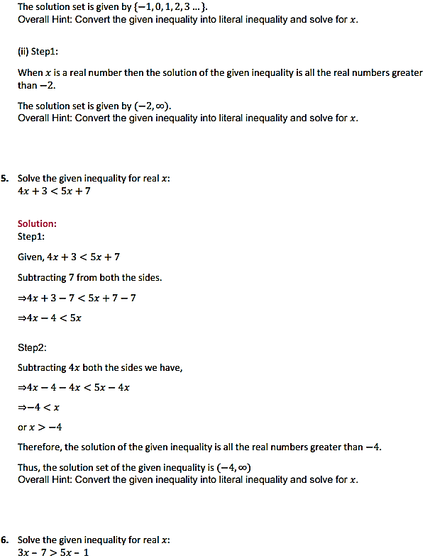 NCERT Solutions for Class 11 Maths Chapter 6 Linear Inequalities Ex 6.1 4