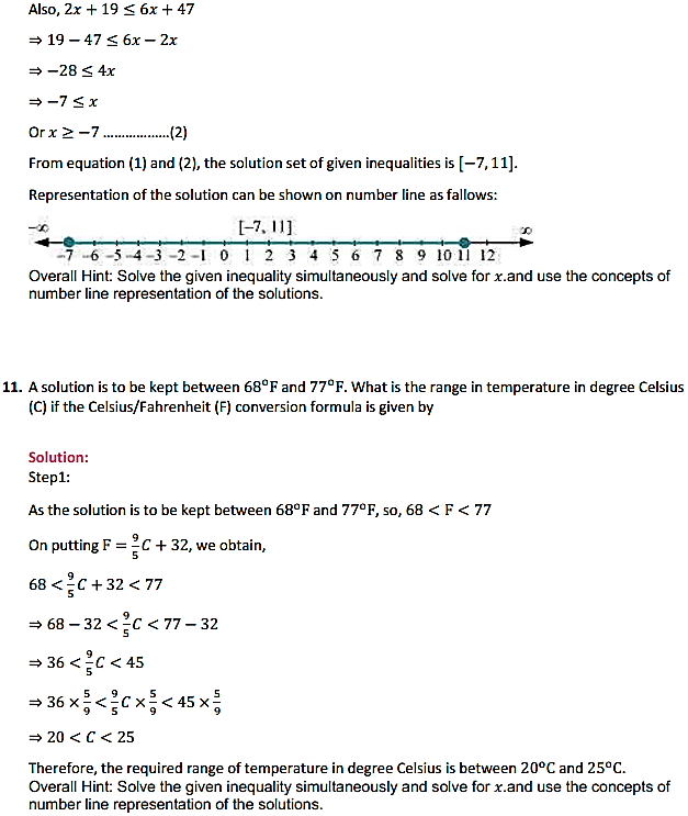 NCERT Solutions for Class 11 Maths Chapter 6 Linear Inequalities Miscellaneous Exercise 7