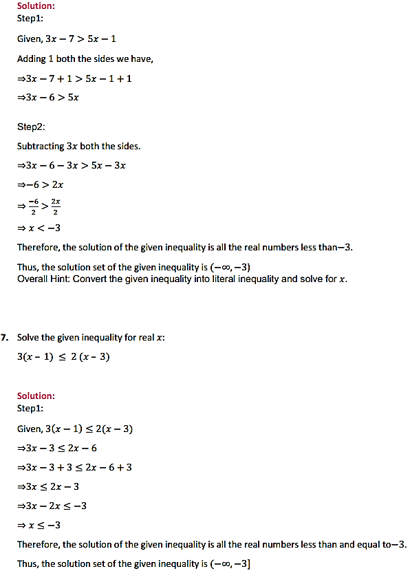 NCERT Solutions for Class 11 Maths Chapter 6 Linear Inequalities Ex 6.1 5