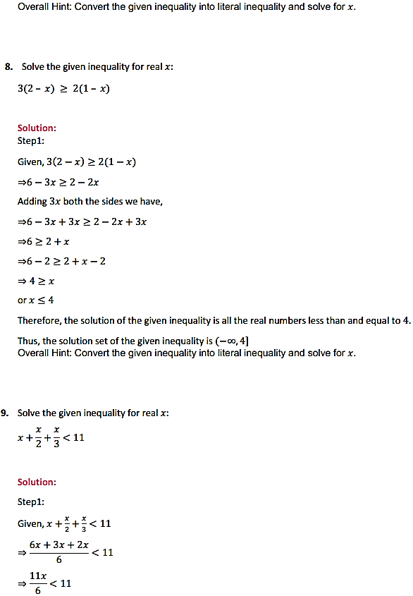 NCERT Solutions for Class 11 Maths Chapter 6 Linear Inequalities Ex 6.1 6