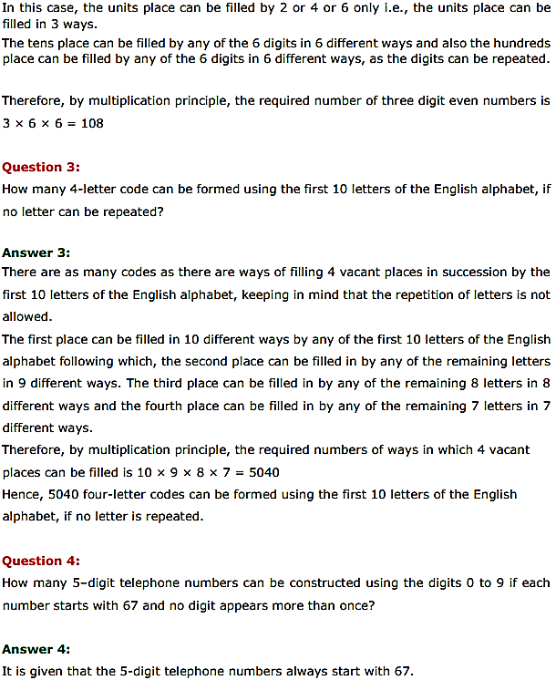 NCERT Solutions for Class 11 Maths Chapter 7 Permutations and Combinations Ex 7.1 2
