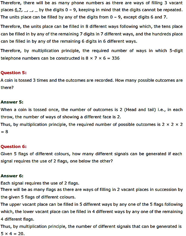 NCERT Solutions for Class 11 Maths Chapter 7 Permutations and Combinations Ex 7.1 3