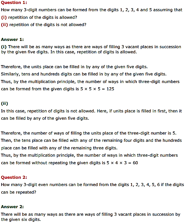 NCERT Solutions for Class 11 Maths Chapter 7 Permutations and Combinations Ex 7.1 1