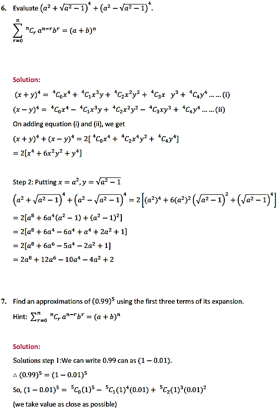 NCERT Solutions for Class 11 Maths Chapter 8 Binomial Theorem Miscellaneous Exercise 6