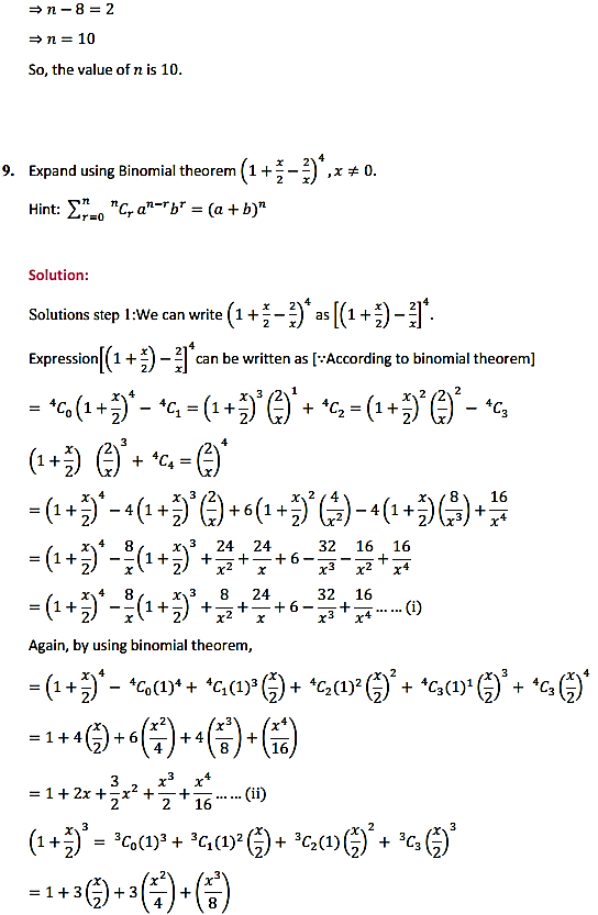 NCERT Solutions for Class 11 Maths Chapter 8 Binomial Theorem Miscellaneous Exercise 8