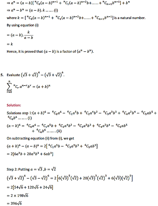 NCERT Solutions for Class 11 Maths Chapter 8 Binomial Theorem Miscellaneous Exercise 5