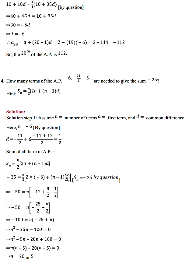 NCERT Solutions for Class 11 Maths Chapter 9 Sequences and Series Ex 9.2 4