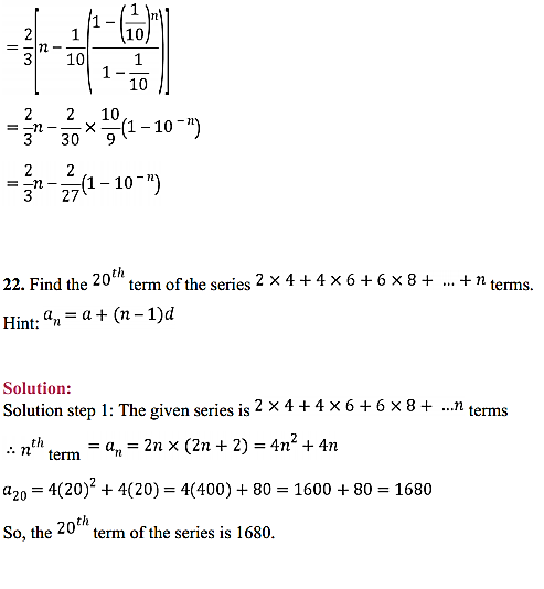 NCERT Solutions for Class 11 Maths Chapter 9 Sequences and Series Miscellaneous Exercise 33